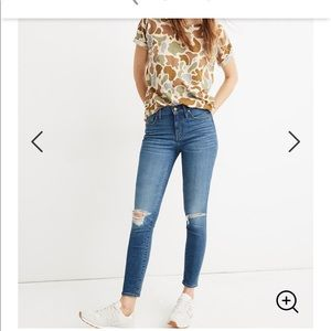 """Madewell 9"""" high-rise distressed jeans"""